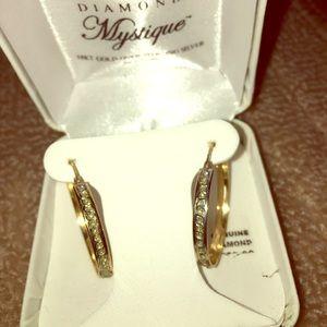 Mystique Diamond 18 kt Gold Hoop Earrings